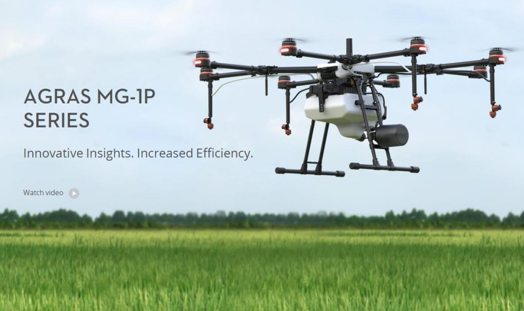 DJI AGRAS MG-1 agriculture spraying drone