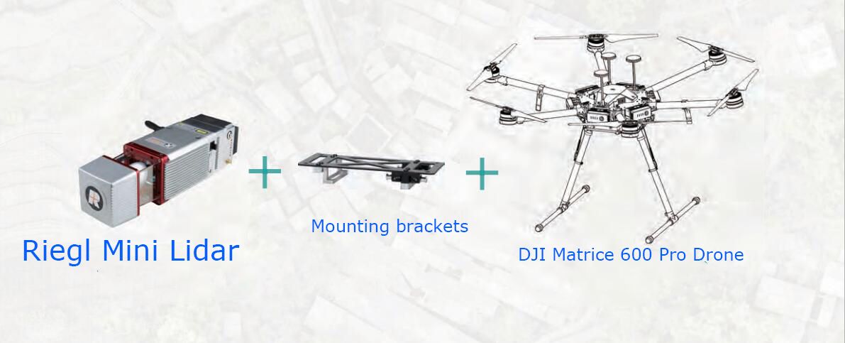DJI M600 Pro drone with Riegl mini Lidar