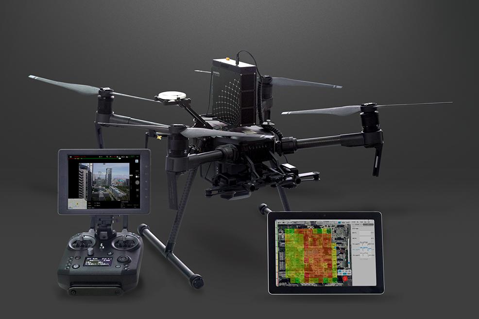 DJI Matrice 210 drone air gas monitoring