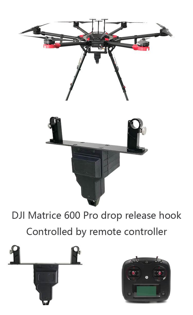 DJI M600 Pro drop release hook