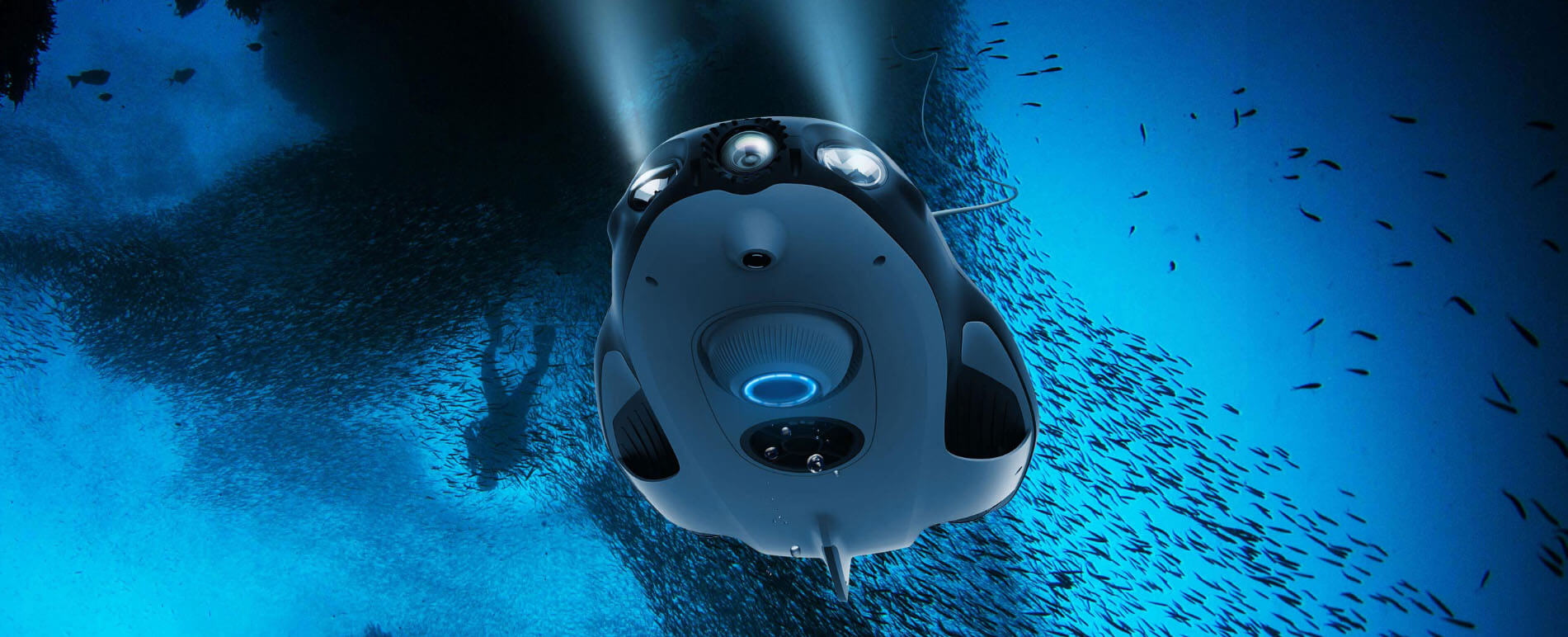 underwater drone with camera
