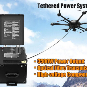 heavy lift tethered drone system