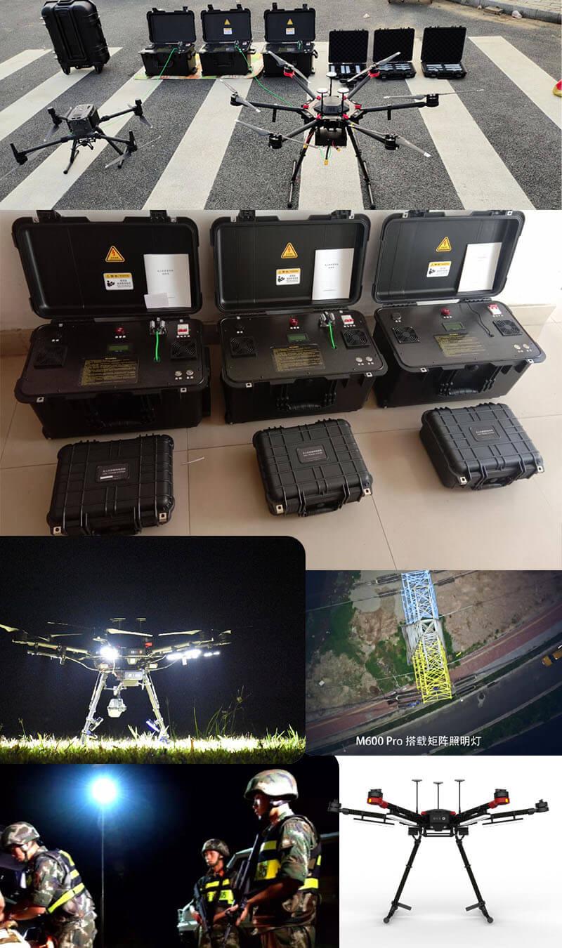 DJI M600 Pro tethered system