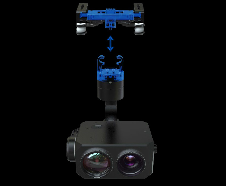 30x Optical zoom with 800M Infrared laser night vision lights drone gimbal camera